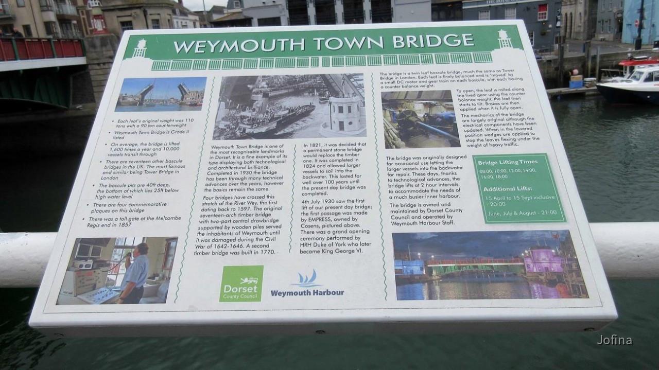 Besichtigung von Weymouth im Süden Englands nahe der Jurassic Coast ...