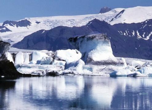 Süden:  Vatnajökull Gletscherabbruch