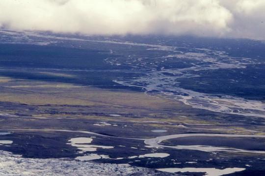 Süden: Unterhalb  des Vatnajökull