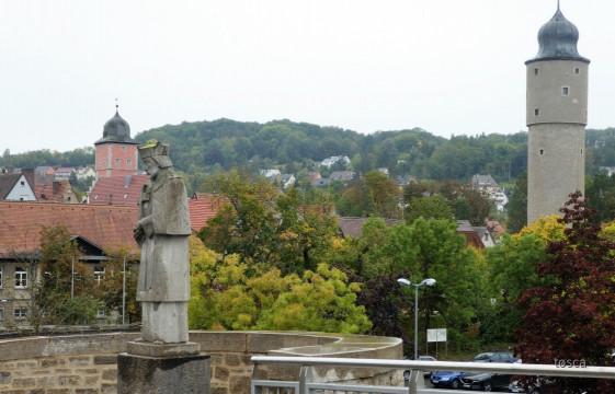 Nepomuk - Alte Mainbrücke in Ochsenfurt