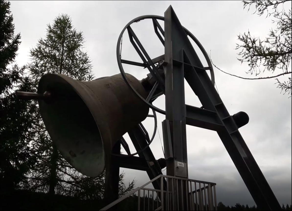 Friedensglocke in Mösern bei Seefeld in tirol