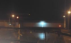 Ausfahrt aus der Schleuse Greifenstein bei Nacht